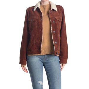 "BlankNYC Medium Corduroy ""Atlas"" shearling jacket"